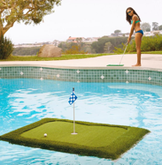 A person playing golf Description automatically generated with medium confidence