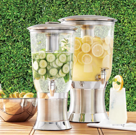 A picture containing cup, table, outdoor, food processor Description automatically generated