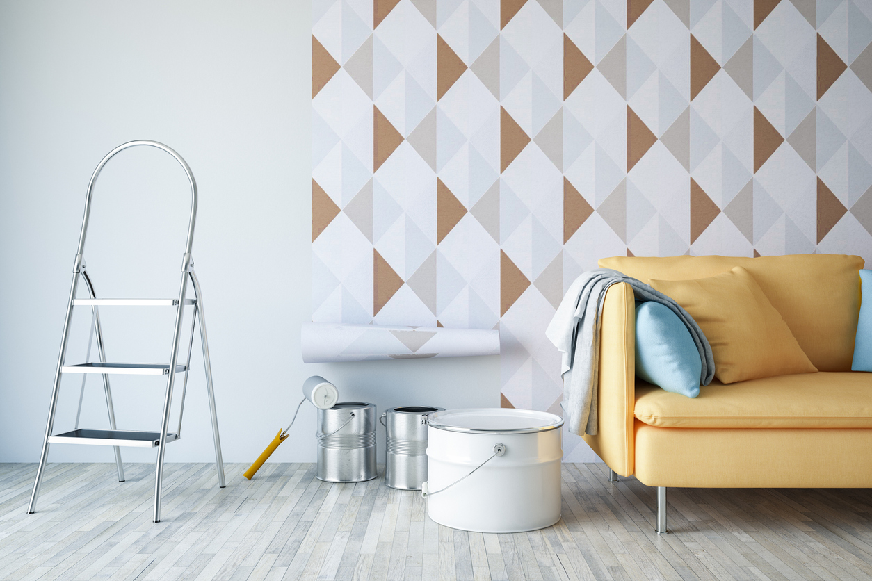 Statement wallpapers are a part of the new interior design trends.