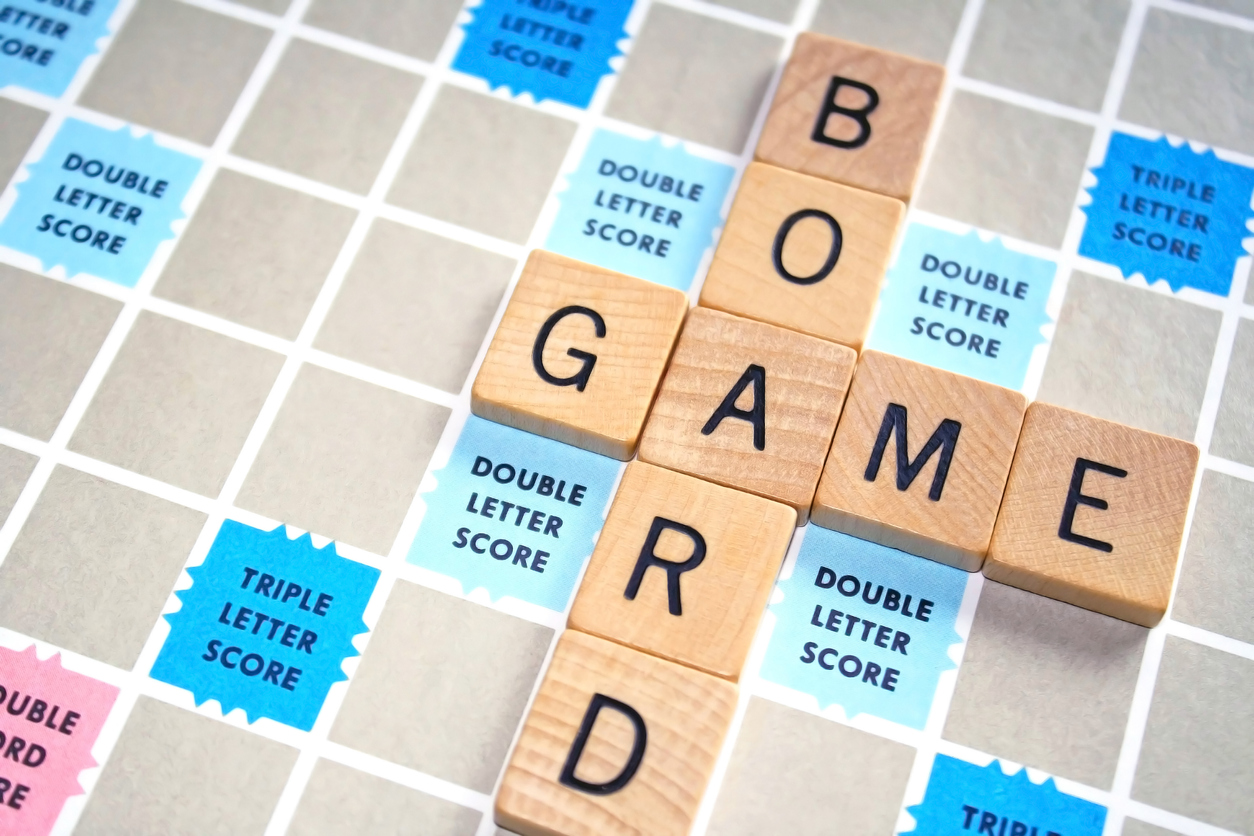 One of the best board games for family game night: scrabble.